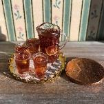 dollhouse miniature ice tea set