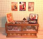 Dollhouse miniature food shop counter