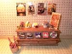 Dollhouse miniature food shop counte cheese