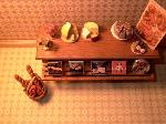 Dollhouse miniature food shop counter cheese