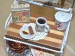 dollhouse miniatures kitchen baker rack shabby