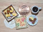 dollhouse miniatures biscuits cookies tin coffee
