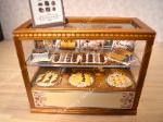Dollhouse miniature vintage style food store display counter