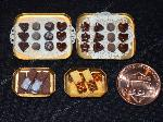 Dollhouse miniature vintage style food store display counter chocolate biscuits