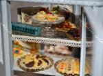 Dollhouse miniature cookies chocolate shop display counter food