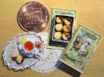 dollhouse miniatures food tray lemon tea biscuits cookies box shabby