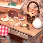 dollhouse miniature baking table