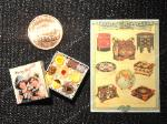 Dollhouse miniature vintage style food Christmas chocolate biscuits