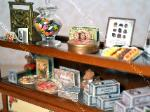 Dollhouse miniature Christmas cookies chocolate shop display counter food