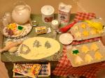 Dollhouse miniature making christmas cookies kitchen baking table food